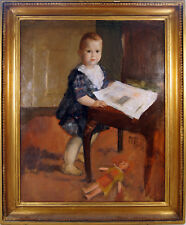 Portrait Of A Baby Girl by David Tägtström Swedish Signed Dated 1921 Oil Canvas