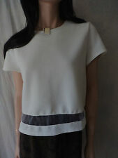 FASHION UNION Beige Crop Top Sz UK 12