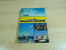 Marinekalender der DDR 1978 / Taschenbuch