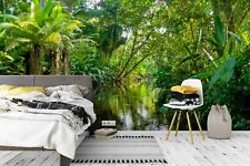 3D Tropical Jungle Wallpaper Wall Mural Removable Self-adhesive Sticker 023