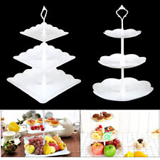 3 Layer Dessert Cup Cake Stand Afternoon Tea Party Wedding Plate Tableware UK
