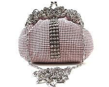 Women's Evening clutch Metal Beaded Mesh Purse for Party Prom Wedding Banquet