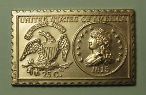 1815 United States Liberty Capped Bust Quarter Dollar Numistamp Medal 1974 Reed
