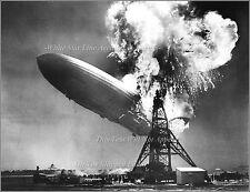 Photo: Airship Hindenburg Aflame, Lakehurst, NJ, May 6th, 1937