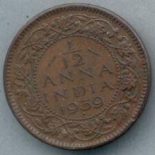 British India KM-527 1/12 anna 1939 XF