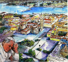 CROATIA Trip / travel the Pope Jean-Paul II Vatican Envelope PA394