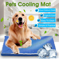 Removable Pet Cooling Mat Gel Mats Bed Cool Pad Puppy Cat Non-Toxic Beds  e