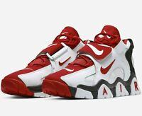 Nike Air Barrage Mid - White / University Red / Black - Sizes 6-12UK AT7847-102