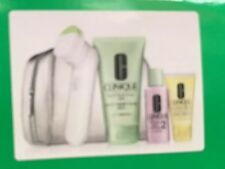 Clean Skin 4 Pc Gift Set, W/ Sonic System Purifying Cleansing brush By Clinique.