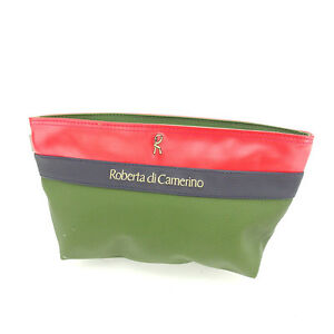 Roberta Di Camerino Clutch bag Second bag Green Red Woman Authentic Used P243