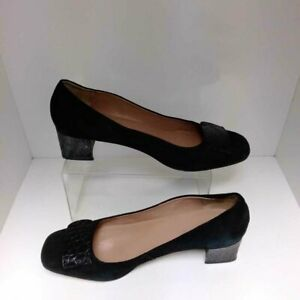 TALBOTS BLACK SUEDE SHOES SIZE 9.5 WFD