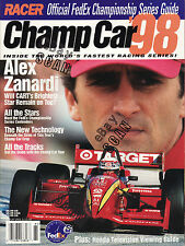 Official FedEx Indy Car Series Guide for 1998 with Alex ZanardIi