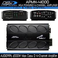 AUDIOPIPE APMN-4100D Mini 4 Channel Car Motorcycle Amplifier 2000W 4CH Micro Amp