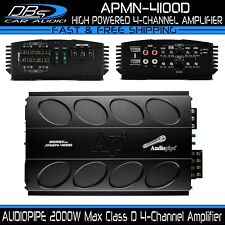 AUDIOPIPE APMN-4100D Mini 4 Channel Car Motorcycle Amplifier 2000W 4CH Micro Amp