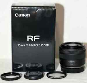 Canon RF 35mm f1.8 MACRO IS STM lens: AS NEW