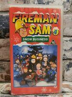 Fireman Sam 4 - Snow Business , VHS Video Tape, Cassette BBC , TBLO