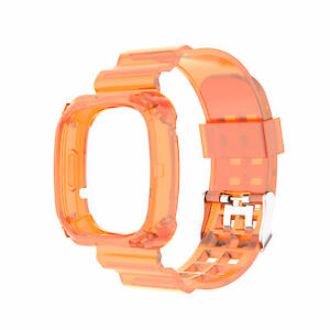 For Fitbit Versa 3/ Fitbit Sense Watch Soft Silicone Clear Bracelet Strap Bands