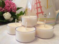 Natural Soy Wax Tealights/tea lights Unscented 100% soy wax