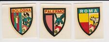 ANNI '60 - 3 RARI SCUDETTI CALCIO - BOLOGNA, PALERMO E ROMA - NO FIGURINE PANINI