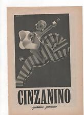 Pubblicità vintage CINZANO CINZANINO SPUMANTE advert reklame werbung publicitè