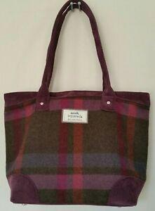 Earth Squared Edinburgh Tote Shoulder Bag Tweed Wool 27x39x14cm