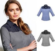 Polyester Machine Washable Button Down Shirt Tops for Women
