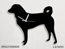 Appenzeller Sennenhund Dog Silhouette - Wall Clock