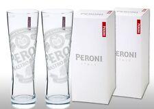 Gift Boxed Peroni Nastro Azzuro 1/2 Pint  Glasses (Set of 2) Sent 1st Royal Mail