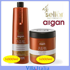 Kit per capelli Nutriente - Shampoo 1000ml + Maschera 1000ml Seliar Argan