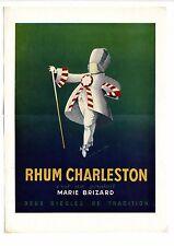 Pub des années 40 pour Marie Brizard ~ Rhum Charleston ~ 27x37 cm ~ FN110