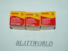 3 ROLLS fresh KODAK COLORPLUS 200 35mm 36 exposure 36exp COLOR FILM EXP.07/2021