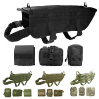 Military Tactical Training K9 Police Dogs Harness 600D Nylon Molle Vest S M L XL