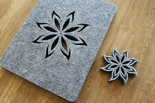 New GREY Placemats and coaster Fire Aster Shape Felt Table Mats Set of 8