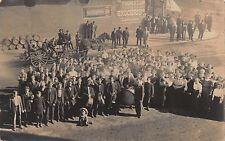 RPPC 1910 Graduating Class, Band, Grocery in North Warren, Minnesota~112438