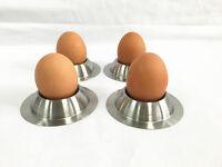 New 4 Pcs Stainless Steel Boiled Egg Cup Egg Cups Egg Holder Boiled Egg Stand