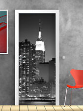 PT0018 Wall Stickers Adesivi Murali Adesivo Porta New York 100x210cm