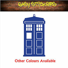 Tardis Time Machine Dr Who Car Wall Window Decal Sticker Geek - Any Colour!