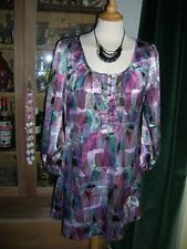 Laura Lees for Topshop size Med Tunic Retro Pattern Pretty Dress Like Spirograph