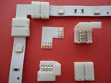 8x RGB Strip Eckverbinder L Winkel LED SMD mehrfarbig Steckverbinder Adapter 90°