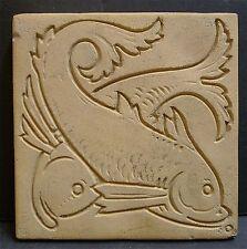Weller Antique Unglazed Bisque Fish Tile