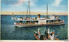 Catalina Island California CA Powerboat Boat postcard