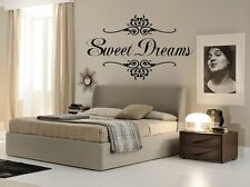 Sweet Dreams Wall Art Decal Girls Quote Vinyl Home Decor Words Lettering 17x24