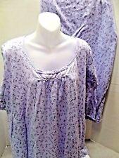 Plus Size CROFT & BARROW Stretch Knit Capri 2 Piece Pajama Set Sleepwear 3X