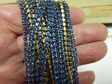 By the foot Swarovski rhinestone chain BLUE 2.5mm crafts jewelry repair