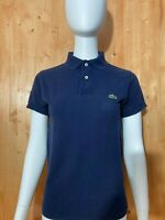 LACOSTE IZOD VTG VINTAGE 1960's Blue T-Shirt Polo Size 1/2 Patron Made In USA!