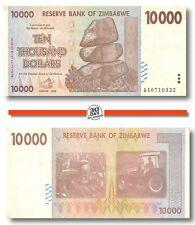 Zimbabwe 10000 Dollars 2008 Vf Pn 72, Banknote24