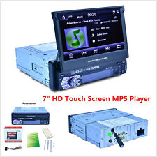 """7"""" HD Touch Screen 1 DIN Car Stereo MP3 MP5 Player Bluetooth FM Radio AUX USB TF"""