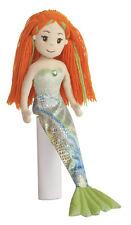 18 Inch Mermaid Doll Meriel2 Stuffed Plush Friend Red Orange Yarn Hair AU33035a