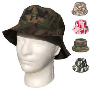 Camouflage Camo Bucket Boonie Sun Hats Caps Hunting Gaming Fishing Military
