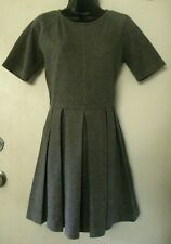 GAP Designed & Crafted Gray Pleated Sweater Dress Size S
